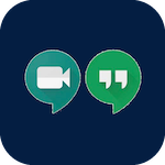 Icon for Google meet & chat that when clicked will open the page for Google Meet & Chat