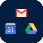 Icon for Google Apps that when clicked will open the page for Google Apps