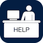 Icon for Helpdesk that when clicked will open the page for helpdesk