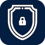 Icon for security that when clicked will open the page for ways to protect yourself online